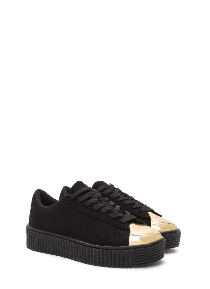 Thinking Cap-Toe Creeper Sneakers BLACK
