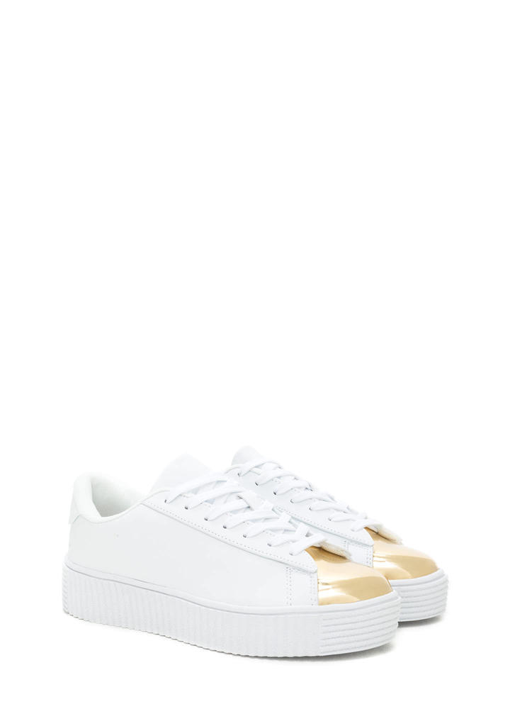 Thinking Cap-Toe Creeper Sneakers WHITE