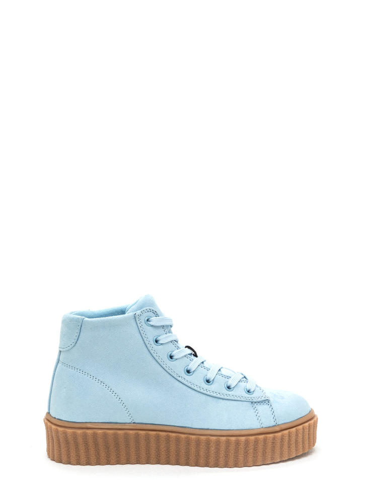 Dramatic Rise High-Top Creeper Sneakers