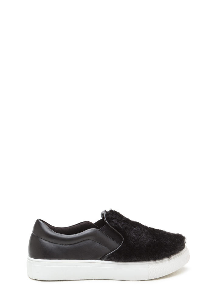 Fave Fur-ever Slip-On Faux Leather Sneakers