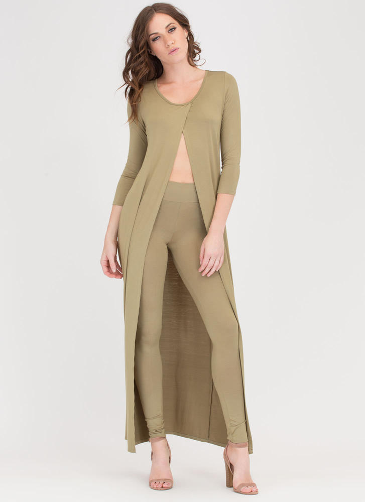 Split Happens Maxi Top And Pant Set SAGE