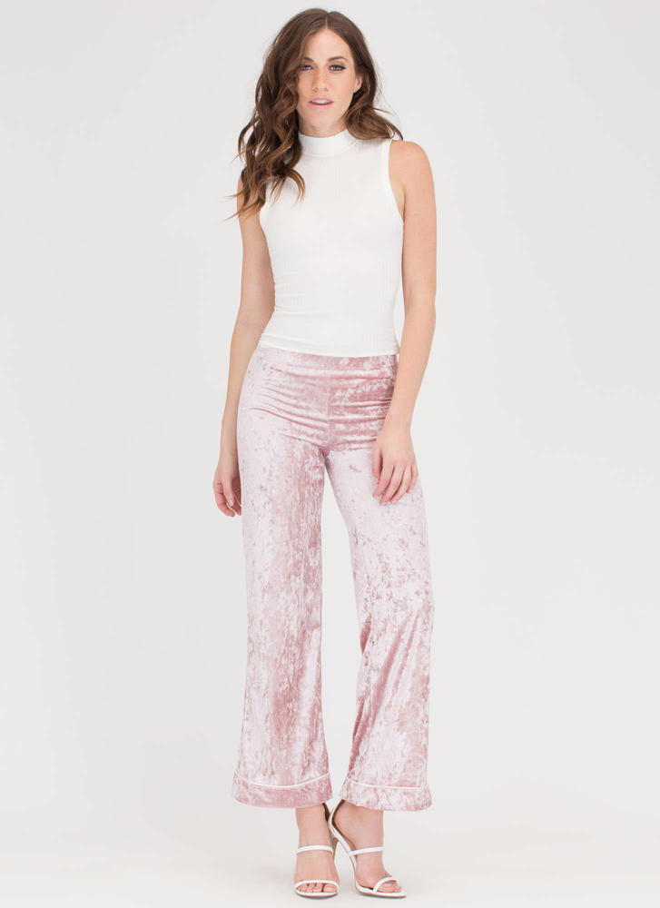 Big Crush Velvet Palazzo Pants