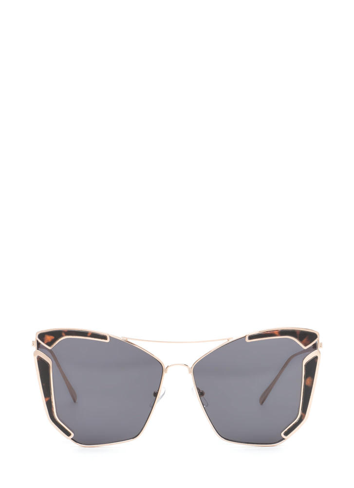 Fine Vintage Cat-Eye Brow Bar Sunglasses