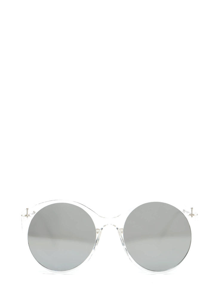 Clear Forecast Round Mirrored Sunglasses SILVERCLEAR