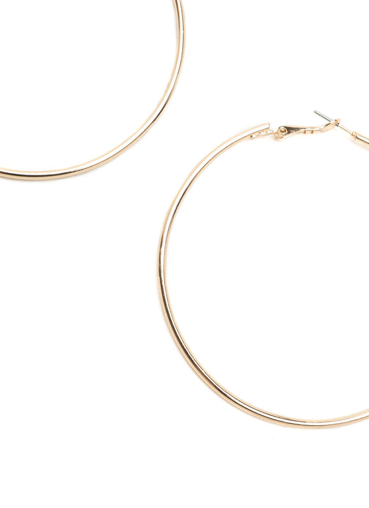Big Idea Oversized Hoop Earrings GOLD