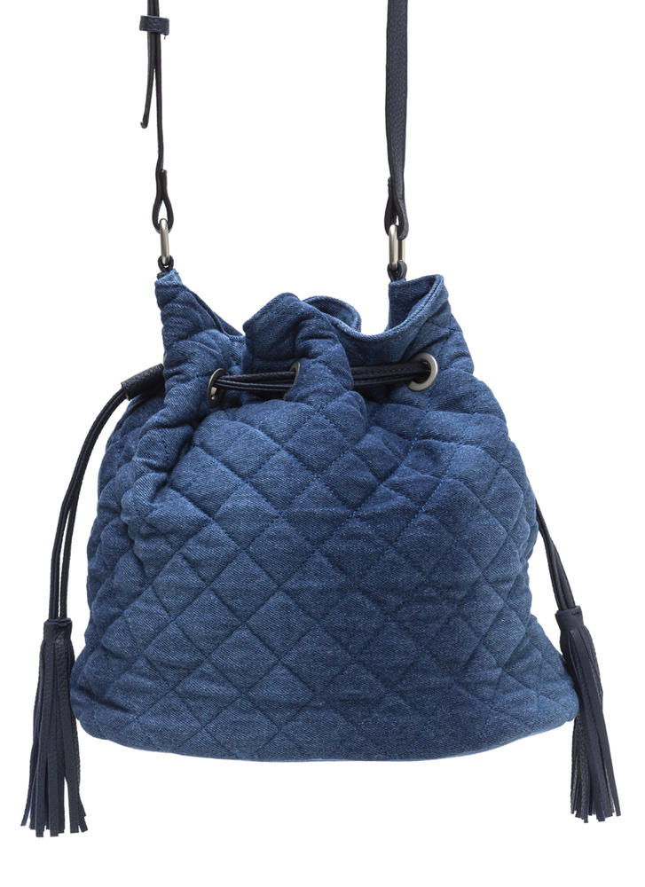Denim Fanatic Quilted Bucket Bag