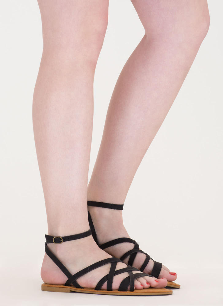 Next Getaway Strappy Caged Sandals