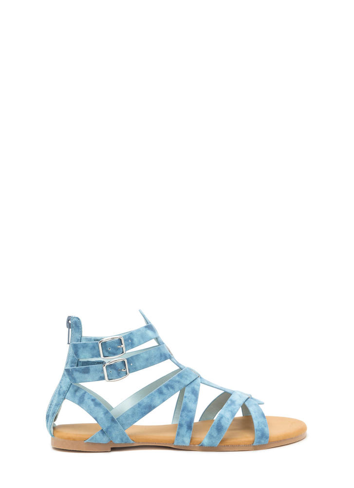 Cloud 9 Caged Gladiator Sandals
