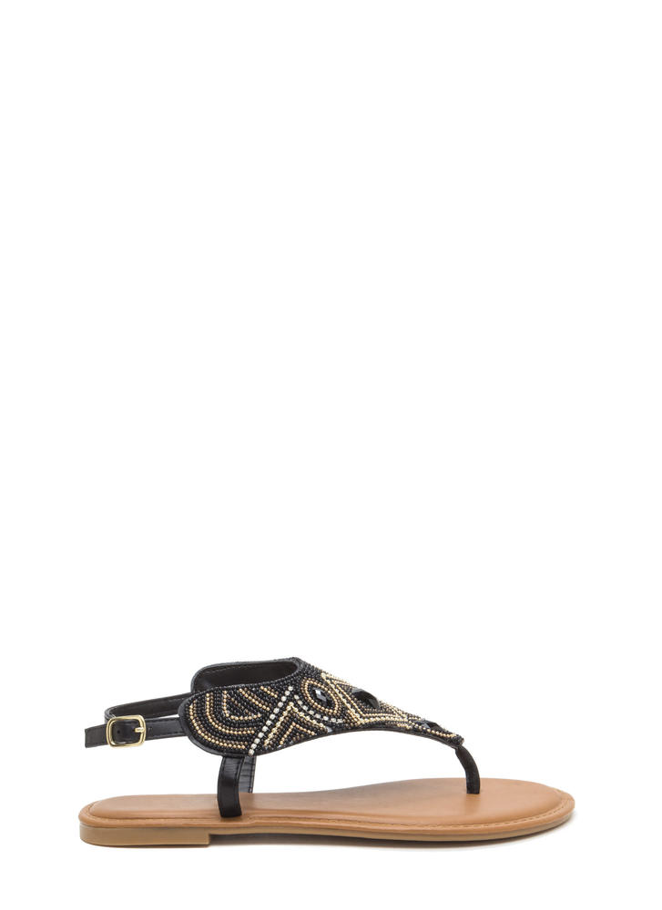 Pattern Play Faux Jewel Sandals