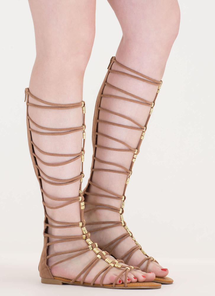 Up The Ladder Strappy Gladiator Sandals