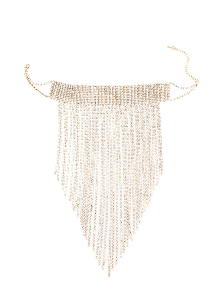 Chasing Waterfalls Sparkly Fringe Choker