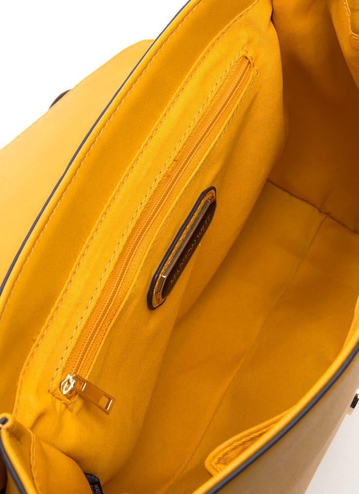 You've Got Mail Faux Leather Bag MUSTARD