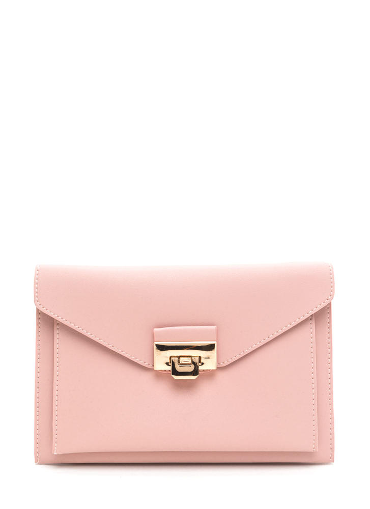 Double Dare Faux Leather Purse PINK