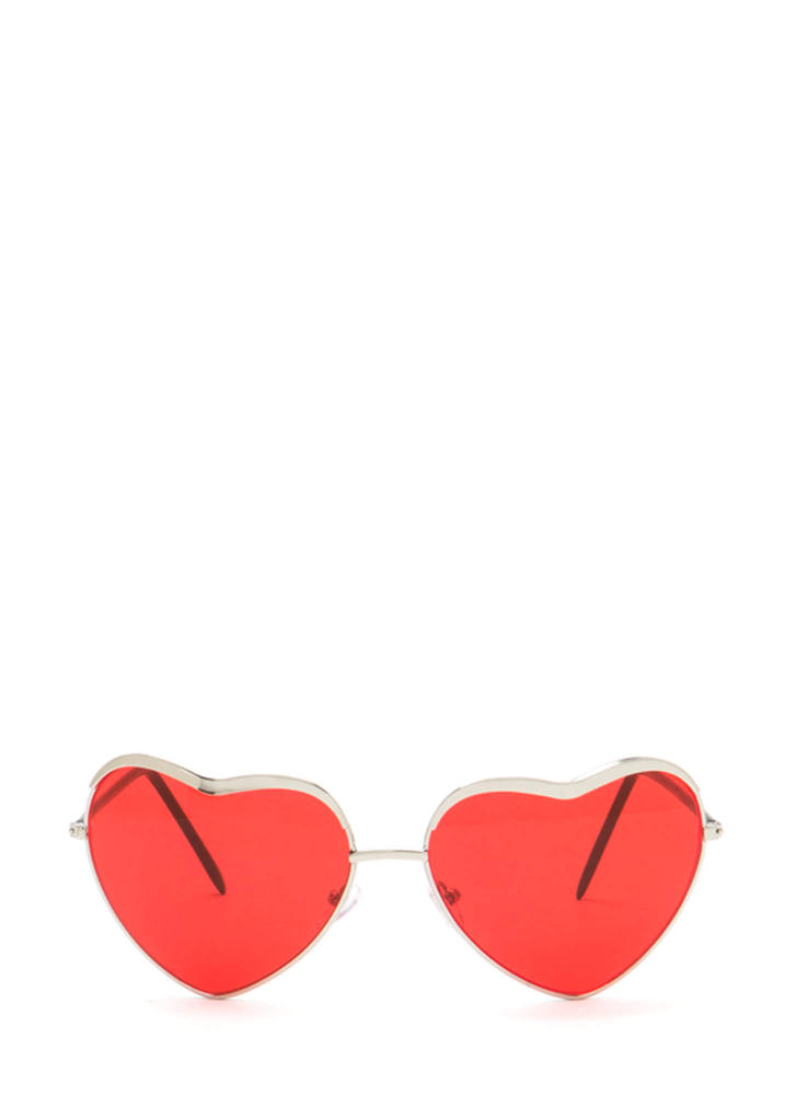 Heart Act To Follow Sunglasses REDSILVER