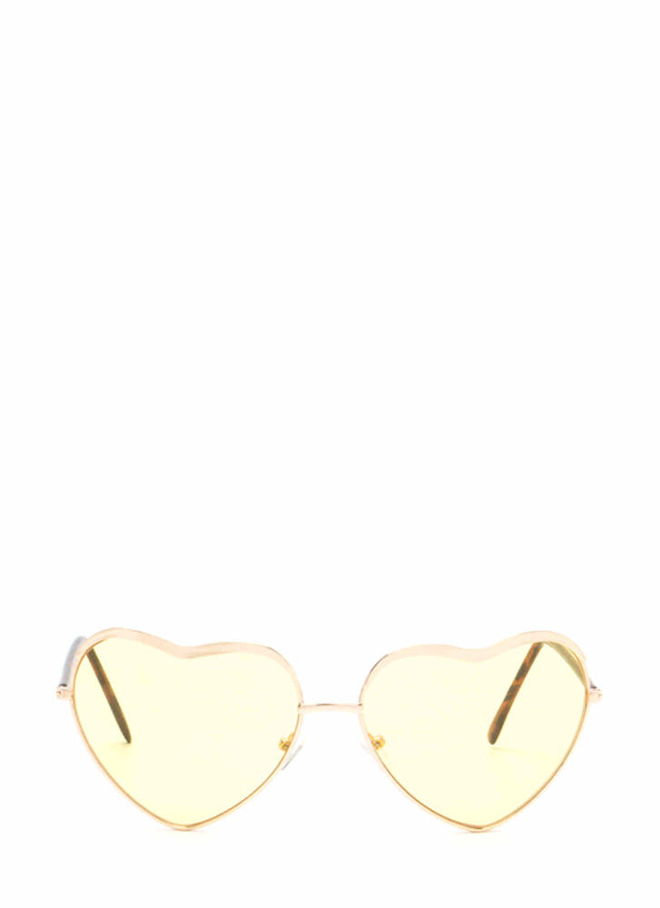 Heart Act To Follow Sunglasses YELLOWGOLD