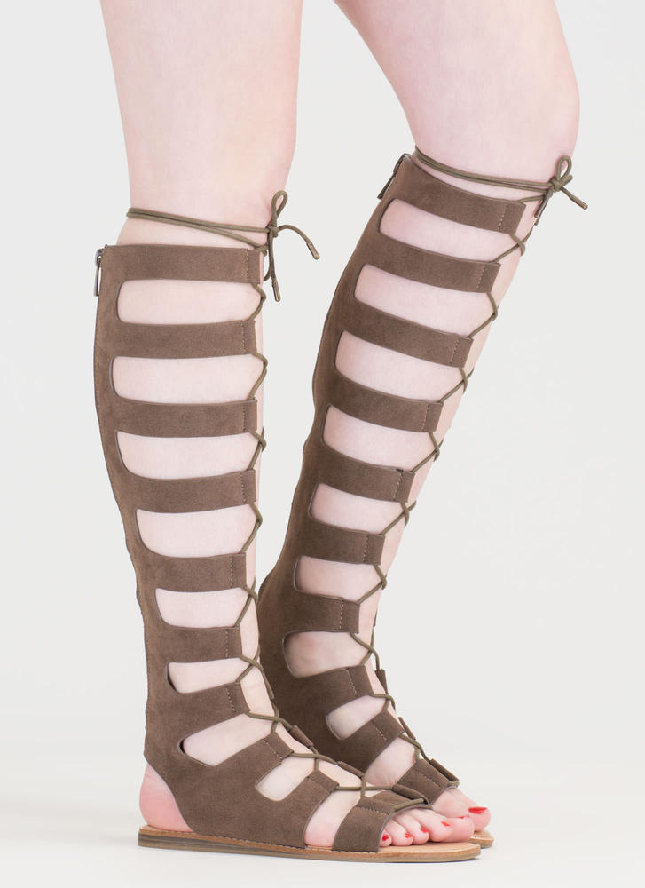 Fight Ready Lace-Up Gladiator Sandals