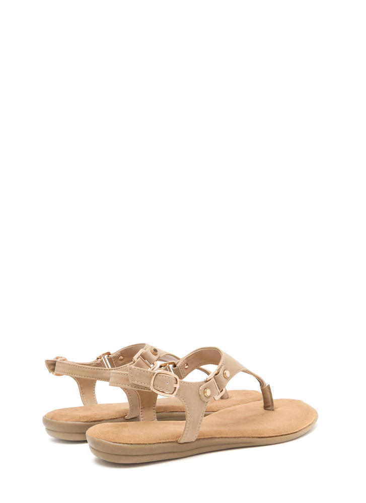 All Day Long Faux Nubuck Sandals NATURAL