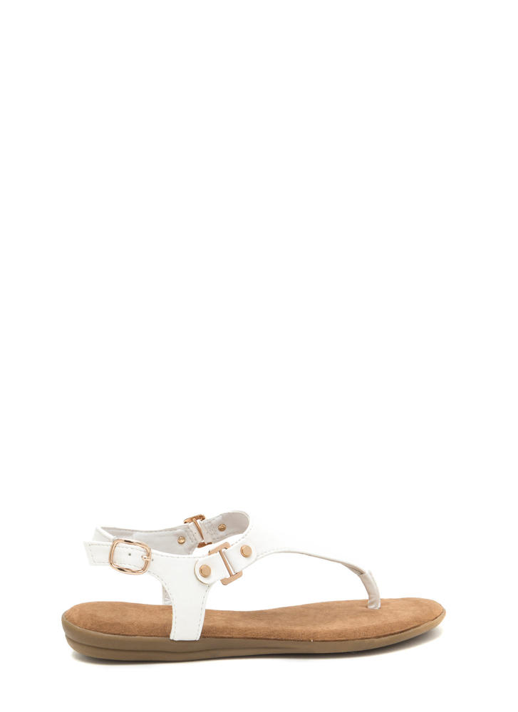 All Day Long Faux Leather Sandals