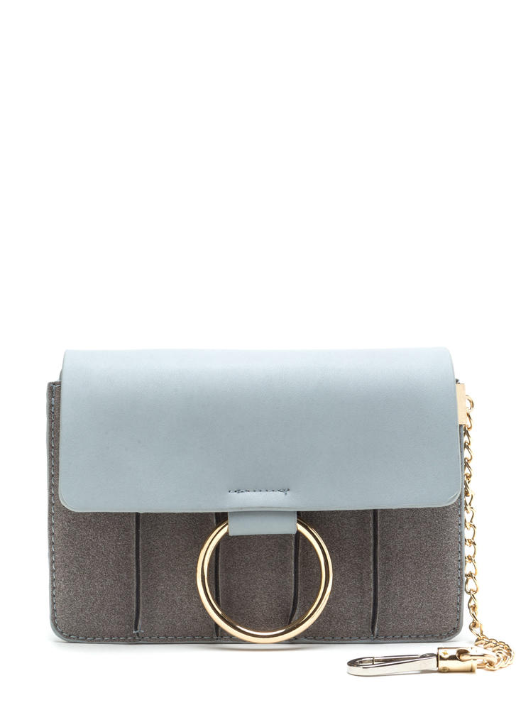 Rings True Faux Leather Ring Bag