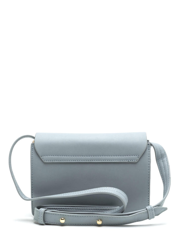 Rings True Faux Leather Ring Bag GREY