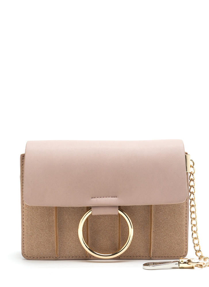 Rings True Faux Leather Ring Bag PINK