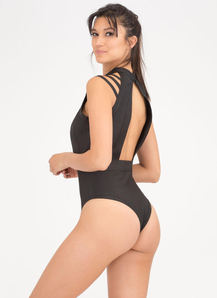 Resort Dip Cut-Out One-Piece Swimsuit BLACK (Final Sale)