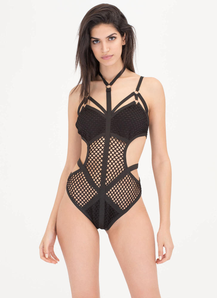 Such A Catch Choker One-Piece Swimsuit