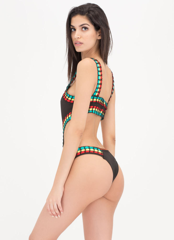 Palm Beach Cut-Out One-Piece Swimsuit BLACK (Final Sale)
