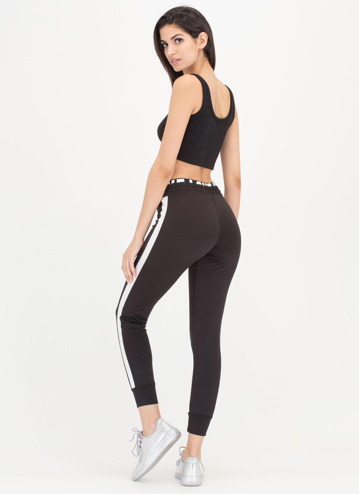 Fitness Love Layered Workout Pants BLACK
