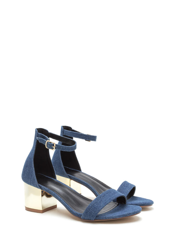 Fashion Friday Denim Block Heels DENIM