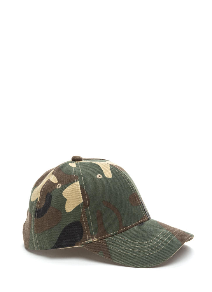 Model Off Duty Camo Baseball Hat CAMOUFLAGE