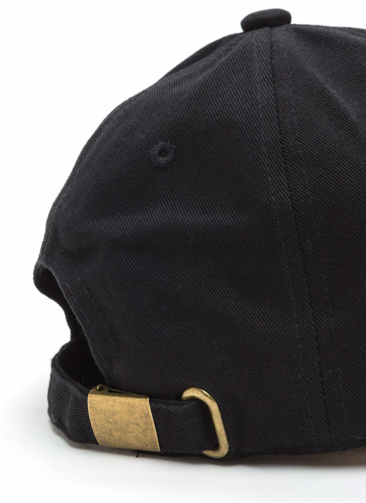 Peace Out Embroidered Baseball Hat BLACK