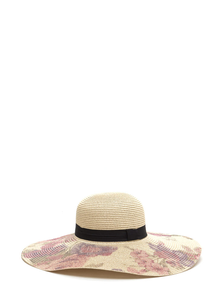 In The Painting Floral Floppy Hat