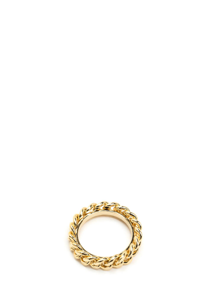 New Obsession Curb Chain Ring