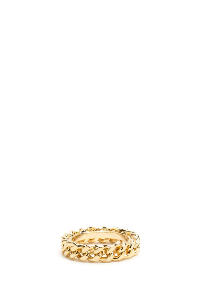 New Obsession Curb Chain Ring GOLD