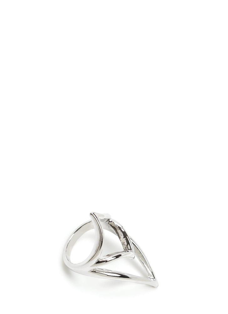 Elegant Point Cut-Out Ring SILVER