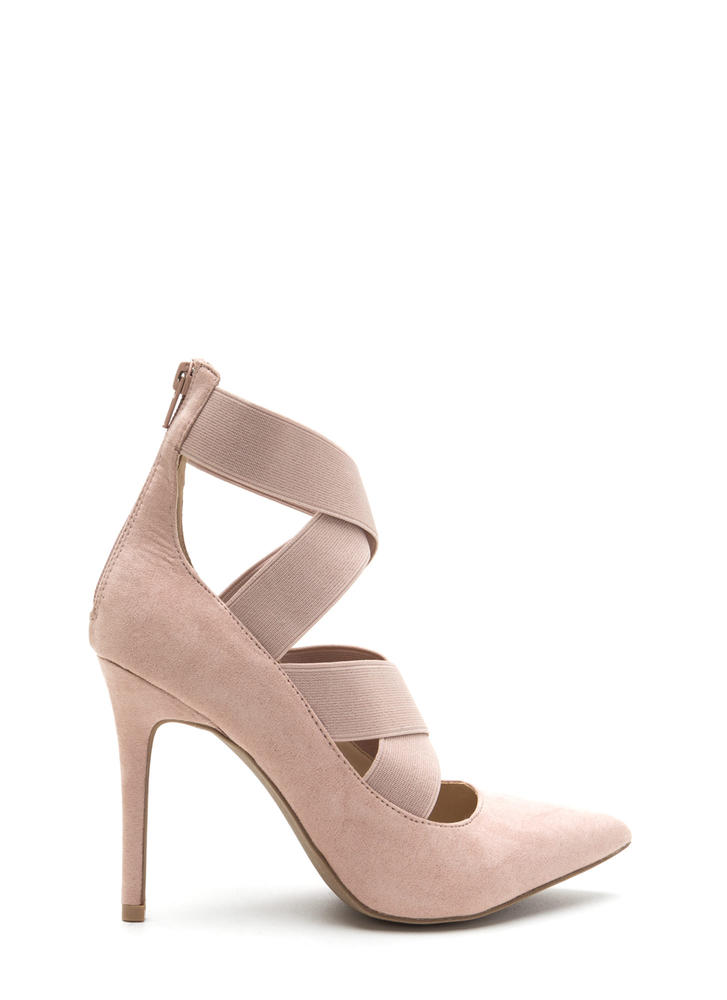 Strap The Idea Pointy Caged Pumps NUDE