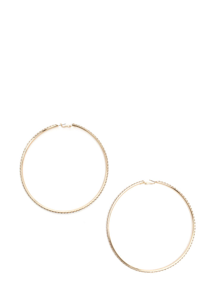 Glisten To You Oversized Hoop Earrings GOLD