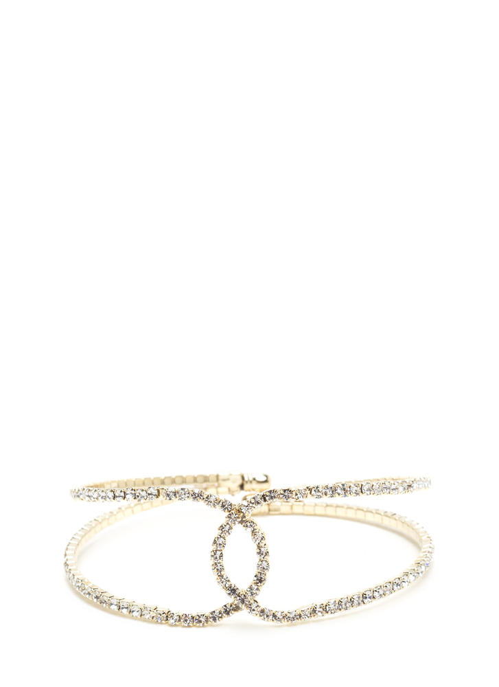 Bring On The Glitz Cut-Out Cuff GOLD