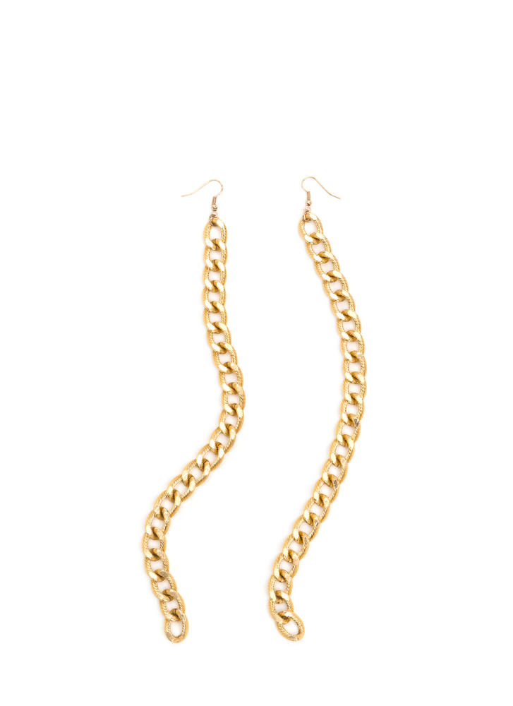 Curb Appeal Long Chain Earrings