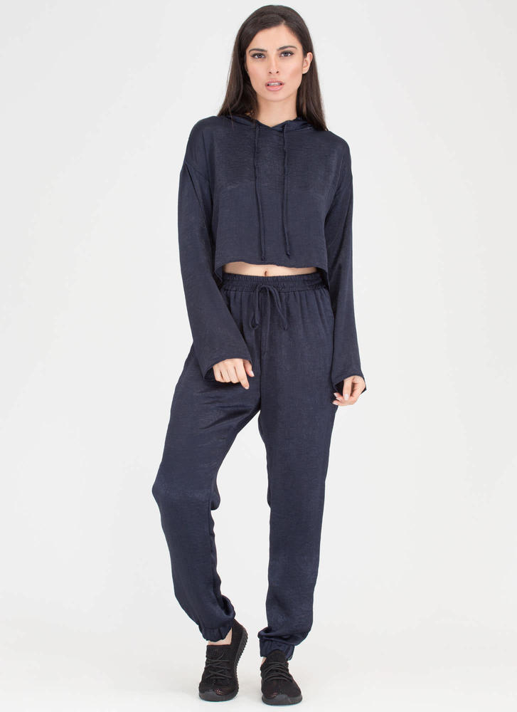 The Silky Way Hoodie And Jogger Set NAVY