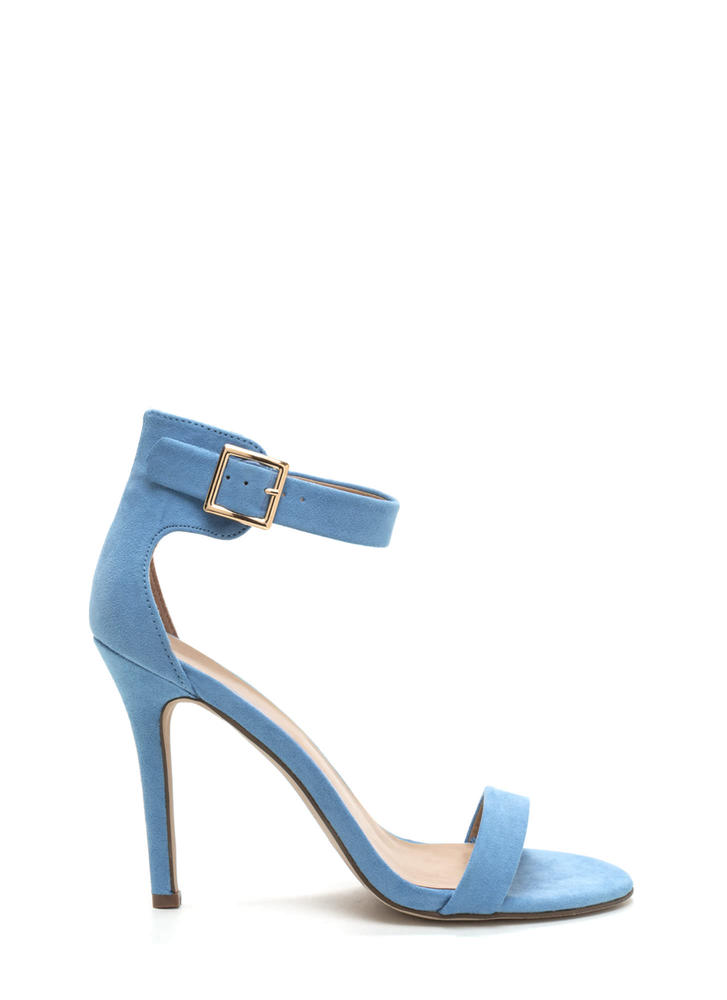 It's Simple Really Ankle Strap Heels