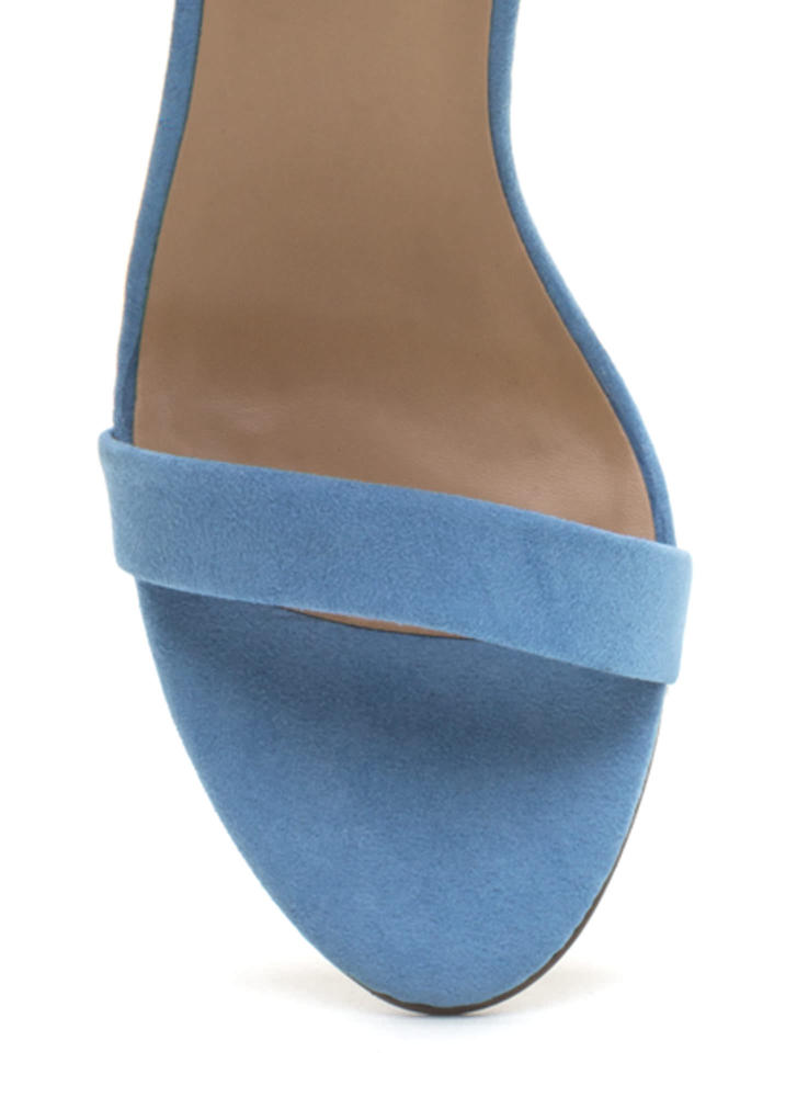 It's Simple Really Ankle Strap Heels BLUE