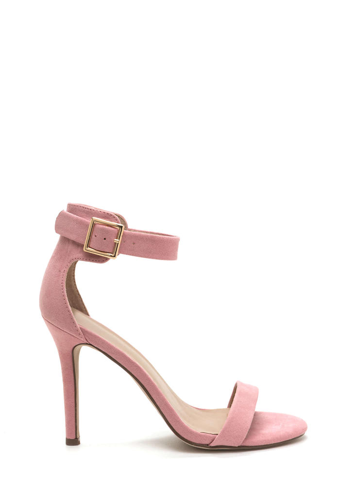 It's Simple Really Ankle Strap Heels PINK