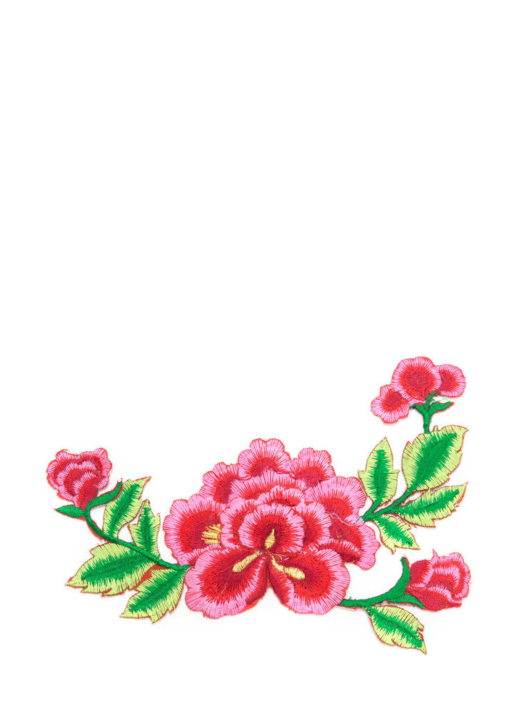 Bloom In Embroidered Patch