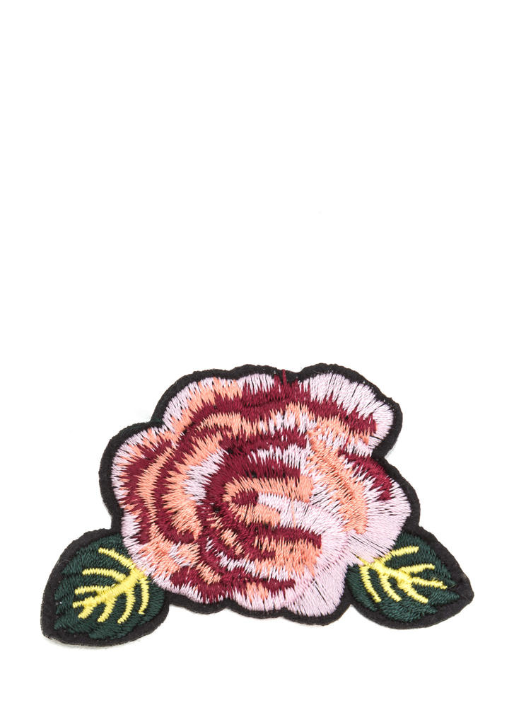 Single Bloom Embroidered Patch