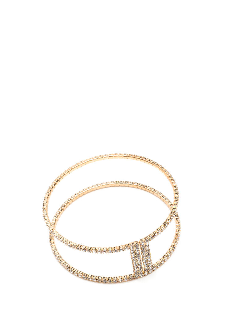 Chic Gleam Cut-Out Rhinestone Cuff