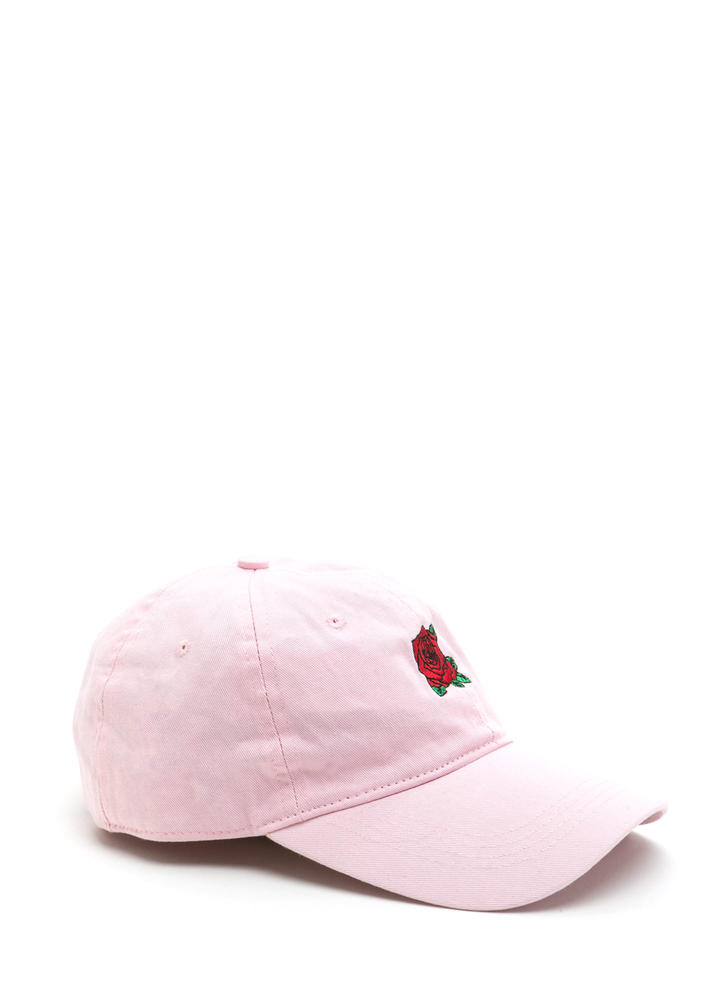 Rose By Any Other Name Baseball Hat PINK