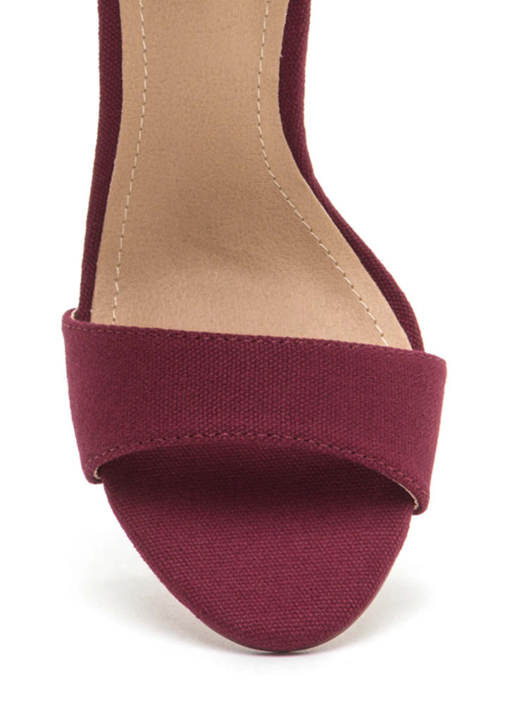 Southwest Style Chunky Woven Heels WINE