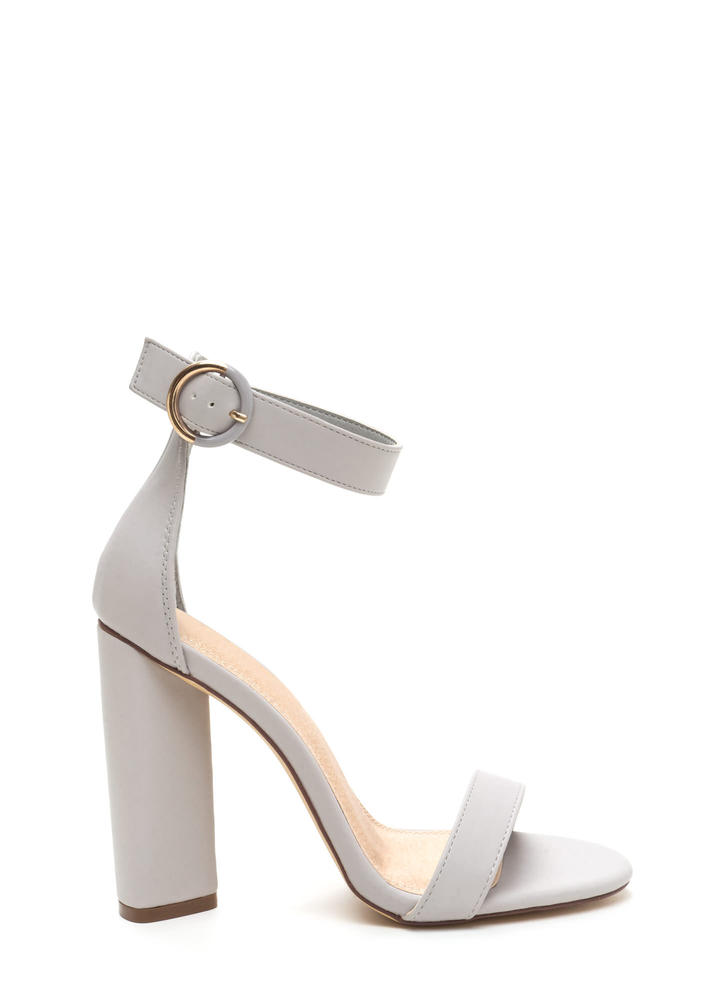 Full Circle Chunky Faux Leather Heels